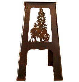 image for Buffalo Western Metal Saddle Seat Counter Stool 24""
