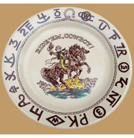image for Little Buckaroo Chuck Wagon 9.5 inch Childs Plate