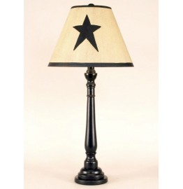image for Texas Star Lampshade & Black Buffet Lamp 32""