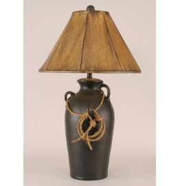 image for Lariat Lasso Accent 3-Handle Pot Table Lamp & Shade 30""