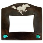 image for Running Horse & Turquoise Western Photo Frame 5 x 7