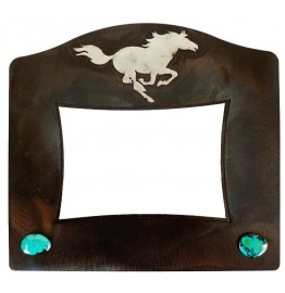 image for Running Horse & Turquoise Western Photo Frame 8 x 10