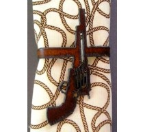 image for Six-Shooter Pistol Metal Napkin Rings set of 8