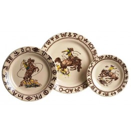 image for Westward Ho Rodeo 3-Pc Western Plate Set