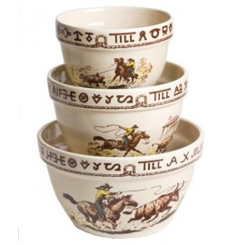 image for Westward Ho Rodeo 3 pc Mixing Bowl Set