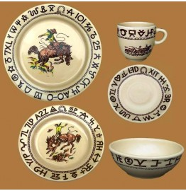 image for Westward Ho Rodeo Dinnerware 5-Pc Place Setting
