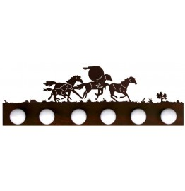 image for Wild Horses Western Vanity Light Bar 6 bulb