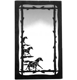 image for Wild Horses Vertical Western Wall Mirror 25 x 15