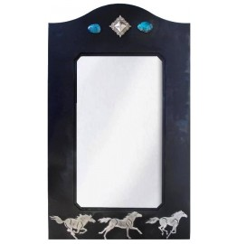 image for Wild Horses & Turquoise Stone Wall Mirror 30 x 18