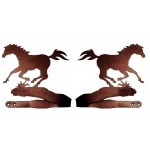 image for Running Horse Drapery Curtain Tie Backs