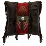 image for Chocolate Deerskin Leather Pillow 20 x 20