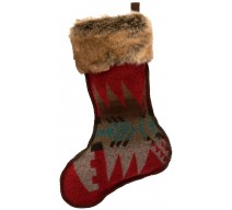 image for Yellowstone Wool Blend & Faux Chinchilla Fur Christmas Stocking