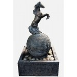 image for TOP OF IT ALL Horse Sculpture Water Fountain