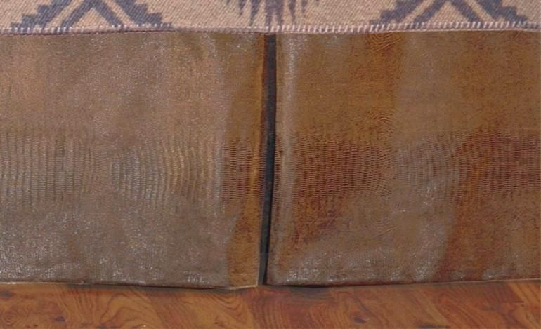 socorro southwestern faux alligator leather tailored bedskirt