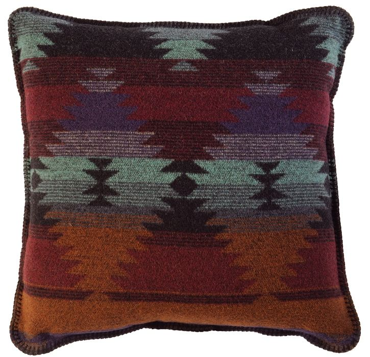 Southwestern Pillows And Throws : Painted Desert Southwestern Throw Pillow 20 x 20