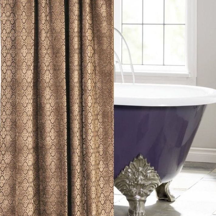 shaw bark chenille custom shower curtain